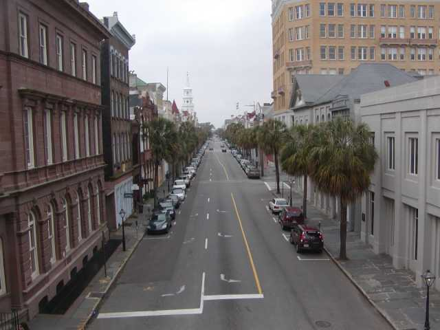View of Broad Street from the second floor