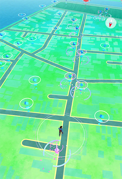 Pokestops in the Historic District of Charleston