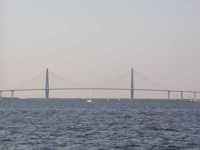 View of the Ravenel from a harbor cruise